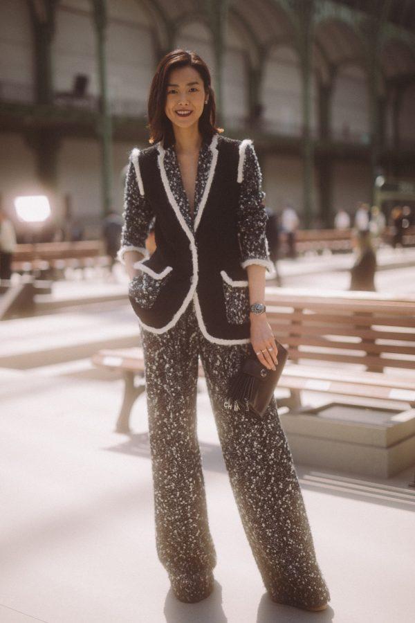 Liu Wen, Claudia Schiffer and Nana Komatsu at the Grand Palais in Paris for the CHANEL Cruise 2019/20 show.