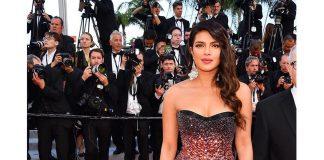 Cannes Priyanka Choprastunning in Roberto Cavalli Couture