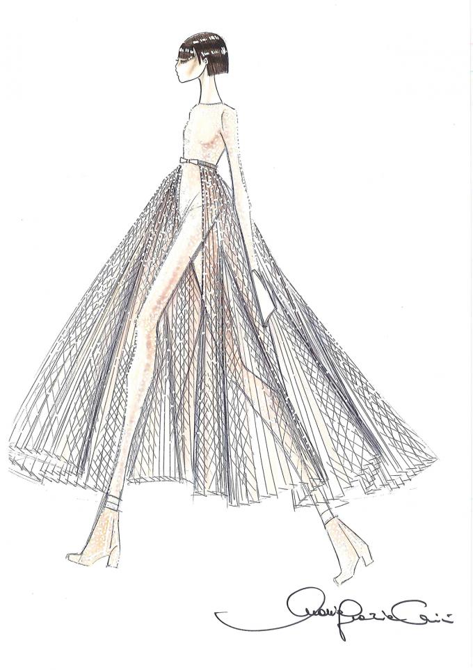 Giorgia in Dior per il suo Pop Heart Tour