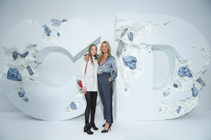 Kate Moss and Daughter Lila Moss Turn Up to Support Kim Jones at Dior