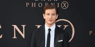 Tye Sheridan wearing Burberry