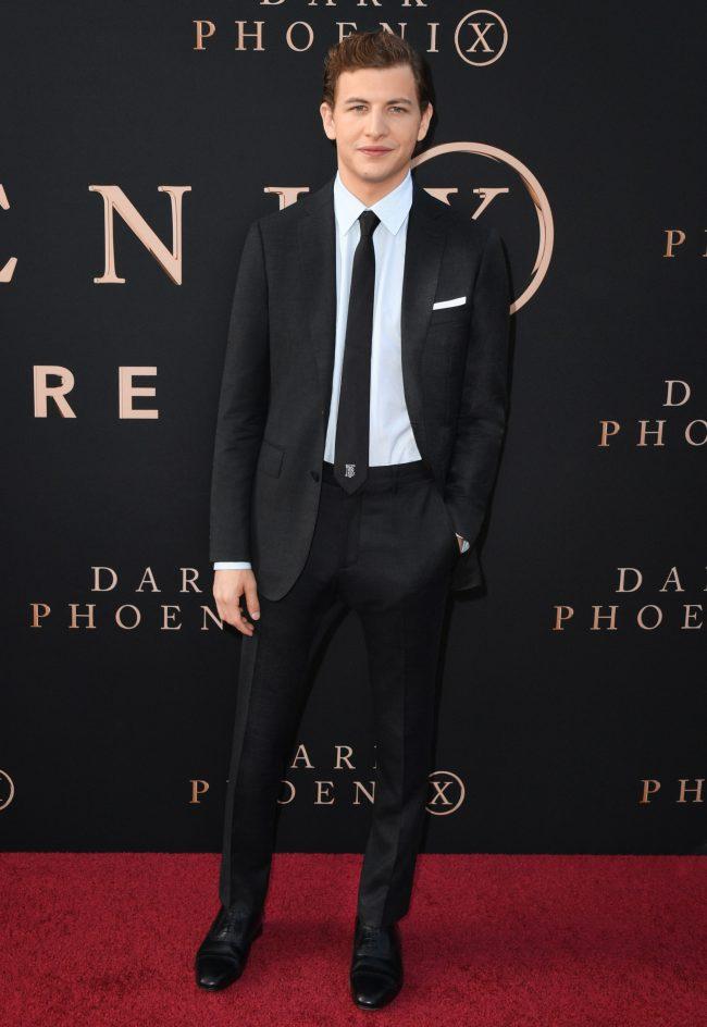Tye Sheridan wearing Burberry