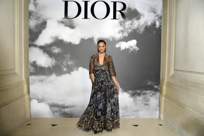 Gal Gadot in Dior at the Paris Fashion Week