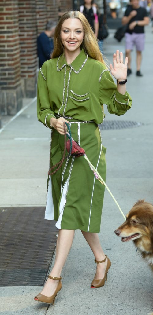 Amanda Seyfried indossa Burberry