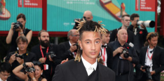 Ghali in Dior to the opening ceremony of the 76th Venice International Film Festival