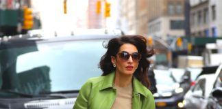 Amal Clooney wearing Burberry fashionpress.it