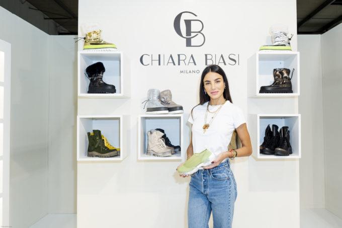 Chiara Biasi ha presentato la sua prima collezione di scarpe al Micam 2019