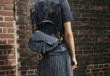 Dior Presents the Saddle Bag in Embroidered Denim