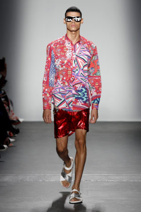 NYFW Custo Barcelona Spring Summer 2020 Collection Wet Paint