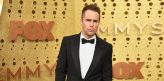 Sam Rockwell wearing Burberry
