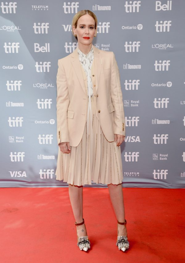 Sarah Paulson wearing Burberry to The Goldfinch press conference during the 44th annual Toronto International Film Festival 8th September 2019