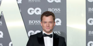Taron Egerton wearing Burberry to the GQ Men of the Year Awards 2019
