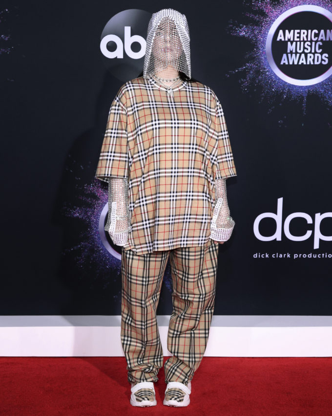 Billie Eilish wearing Burberry