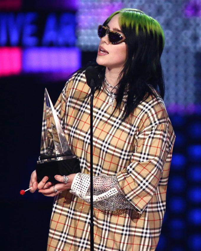 Billie Eilish wearing Burberry