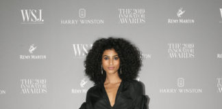 Imaan Hammam wearing Burberry at the WSJ. Magazine Innovator Awards 2019
