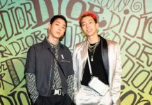 Jay Park and Gray Seated front row at the Dior Men Fall 2020 show