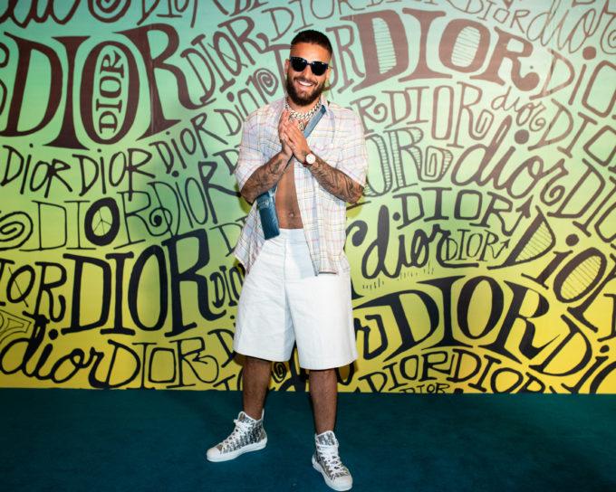Maluma travel to Miami for Dior Men's Show