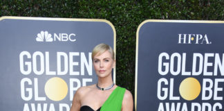 Golden Globes 2020: Charlize Theron wearing Dior Haute Couture