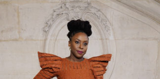Chimamanda Ngozi Adichie attends the Dior show as part of Paris Haute Fashion Week