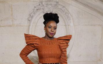 Chimamanda Ngozi Adichie attends the Dior show as part of Paris Haute Fashion Week