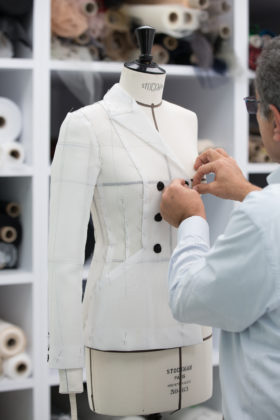 Dior presents the savoir-faire behind the camouflage version of the Bar jacket