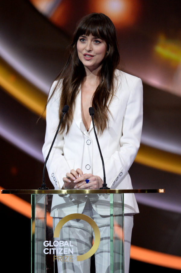 Dakota Johnson Wore Burberry To The 2019 Global Citizen Prize