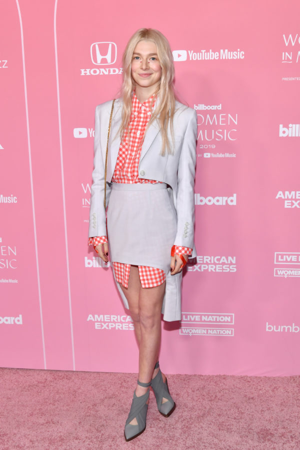 Hunter Schafer in Burberry at the 2019 Billboard Women in Music Awards.