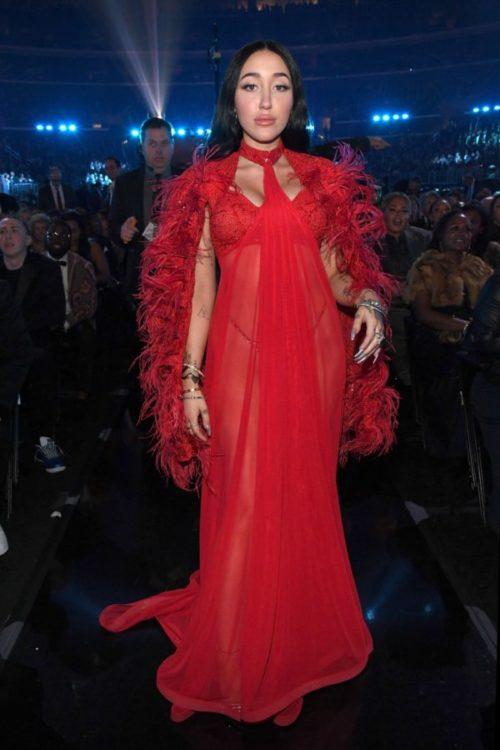 Noah Cyrus wearing Adolfo Sanchez at The 62nd annual Grammy Awards
