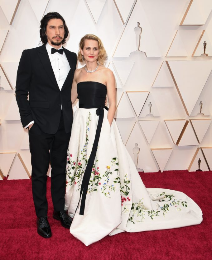 Adam Driver wearing Burberry to the Academy Awardsin Los Angeles