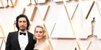 Adam Driver wearing Burberry to the Academy Awards in Los Angeles
