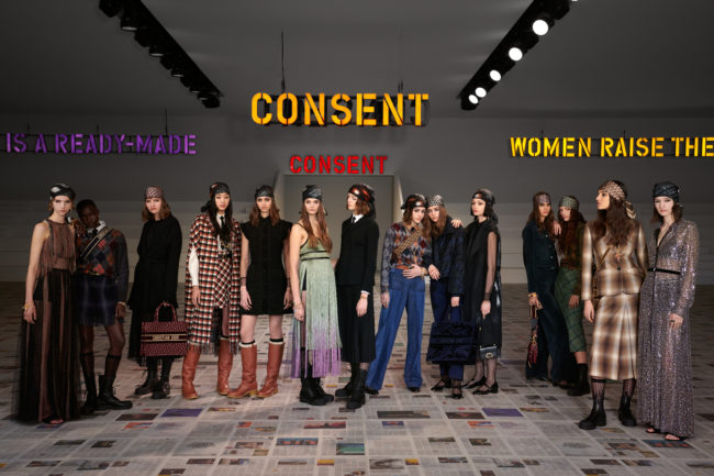 Dior joins forces with conceptual feminist artist Claire Fontaine for AW20