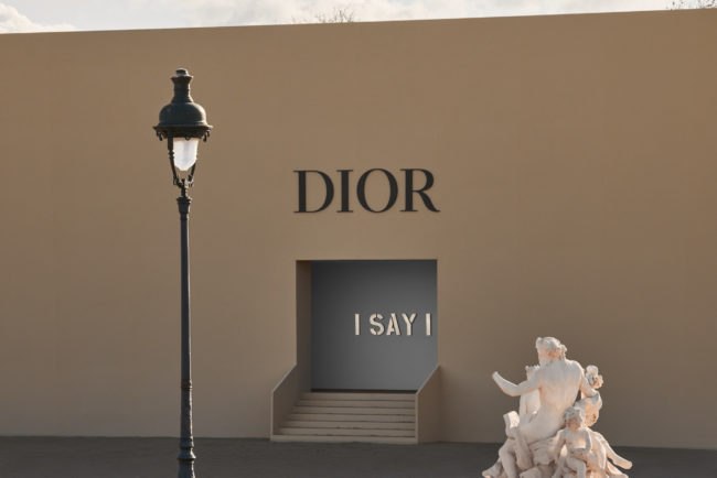 The #DiorAW20 show space