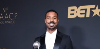 NAACP Image Awards: Michael B. Jordan wearing Burberry