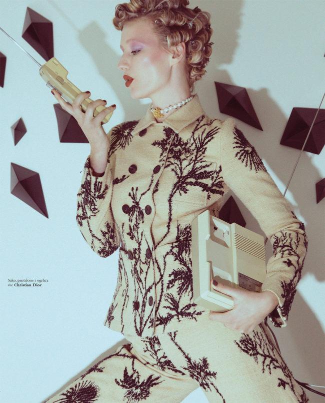 Ekaterina Korobova on Harper's Bazaar Serbia April Cover shot by Daniella Midenge
