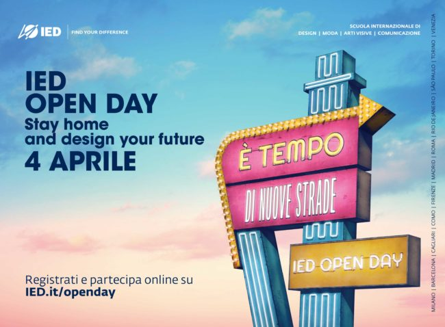 IED OPEN DAYStay home and design your future!