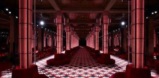 Miu Miu Fall-Winter 2020 Show Space Description Hued Colonnade