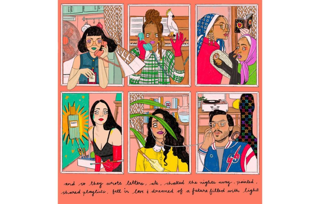 Lebanese artist Nourie Flayhan illustrates Gucci Beauty's new campaign