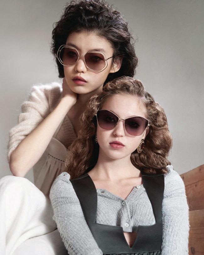 Photographers Lynette Garland and Liz Collins captured Miu Miu Eyewear's SS20 campaign