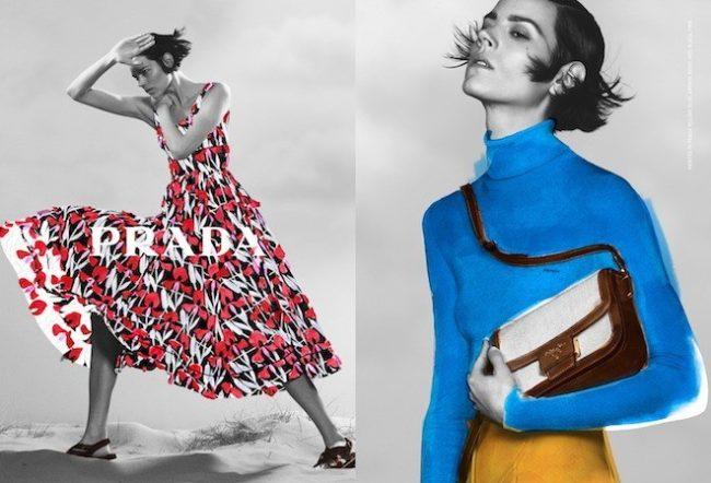 Painted in Prada: Campagna Prada Donna Pre-Fall 2020