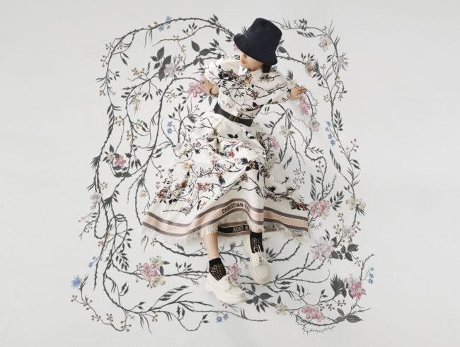 Dior presents its Rosa Mutabilis floral motif