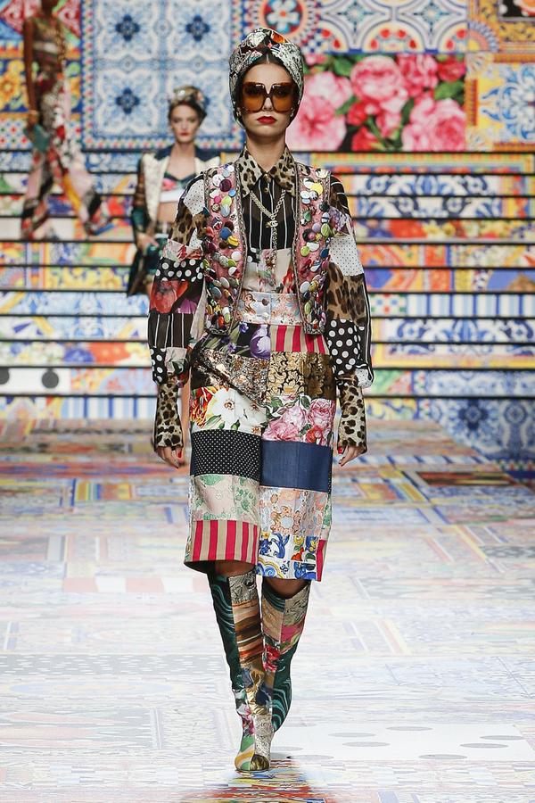 Dolce & Gabbana e il patchwork di Sicilia. Fashionpress.it