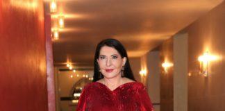 Marina Abramović wearing Burberry