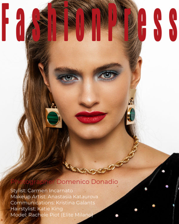 Golden Girl: Rachele Piot Shines in Fahionpress.it Shoot by Domenico Donadio
