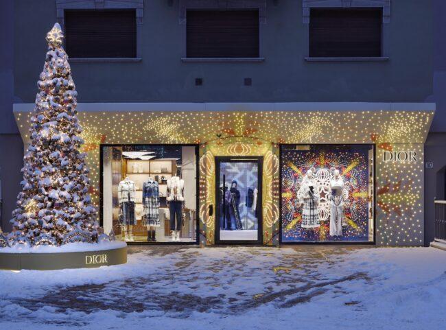 A new Dior pop-up store in Cortina