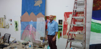 PETER DOIG IN HIS STUDIO