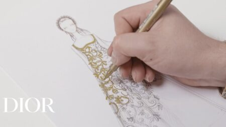 Savoir-faire of the new 'Miss Dior' dress