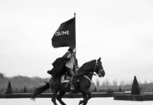 Celine Homme Fall 2021: Teen Knight Poem in Chambord