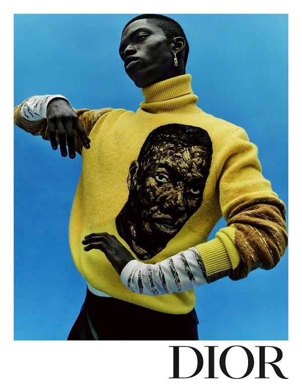 Dior's SS21 Menswear Campaignin collaboration with Amoako Boafo