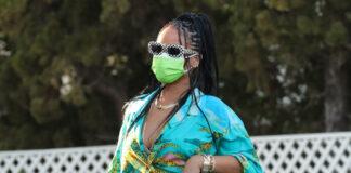 Rihanna inCELINE by Hedi Slimane