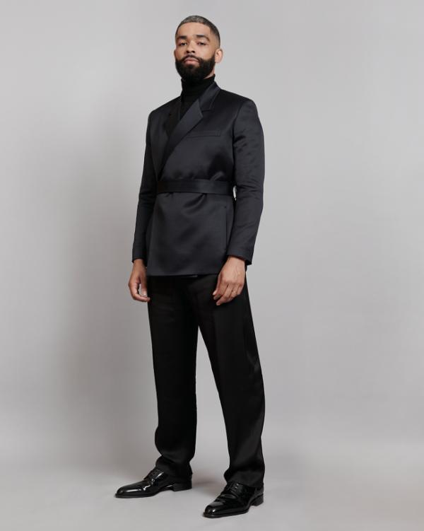 Kingsley Ben-Adir dressed in Dior by Kim Jones to the 74th British Academy Film Awards